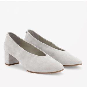 COS block heel suede shoes